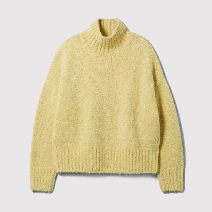 weekday yellow sweater
