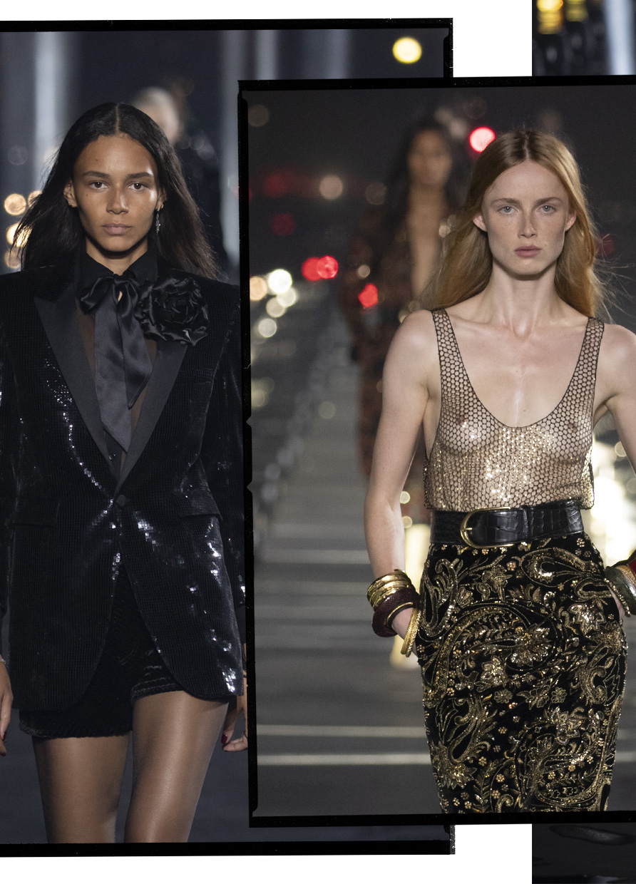 Saint Laurent's after-dark glamour