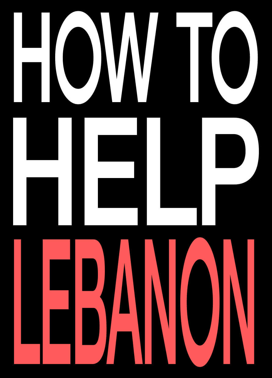 HOW TO HELP LEBANON FROM AFAR