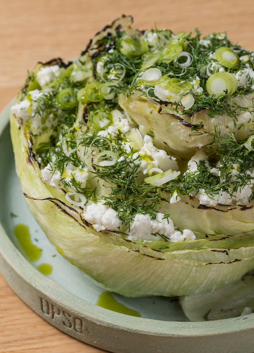 RECIPE OF THE WEEK: Grilled Lettuce, Feta and Chive
