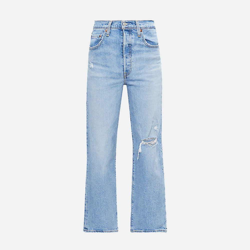 LEVI'S RIBCAGE STRAIGHT HIGH-RISE JEANS | Best Blue and Light Blue Jeans